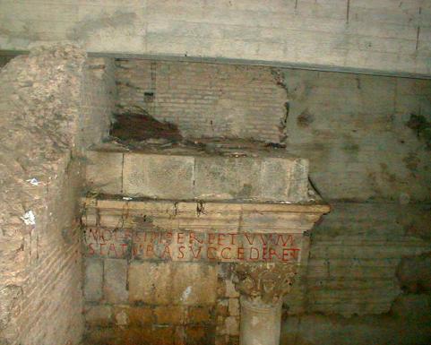 L'édifice monumental gisant sous le Marché Boumezzou (Source : Bouchareb/Ariane)