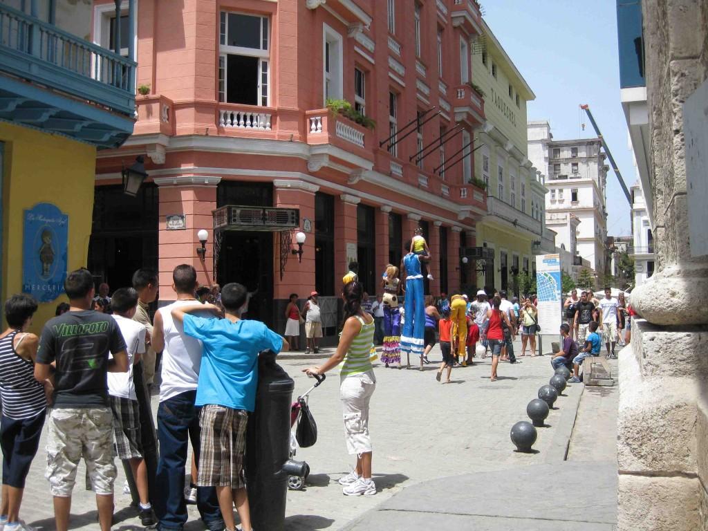 Façades restaurées de la Vieille Havane, juillet 2011 (photographie personnelle)