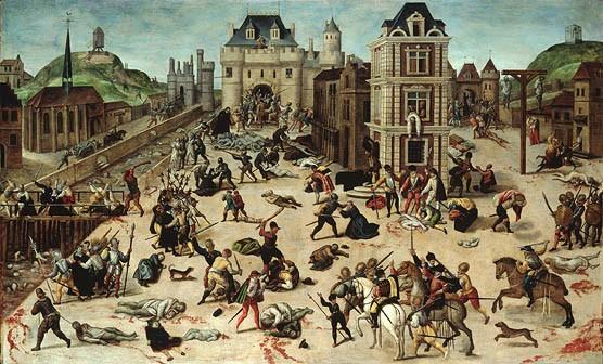 François Dubois, Le massacre de la Saint Barthélemy, 1576-1584, Peinture à l'huile sur panneau, 94×154 cm (musée cantonal des Beaux-Arts de Lausanne)