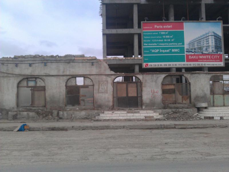 Projet de maisons de style typiquement haussmannien Paris evlari [les maisons de Paris] au sein du mégaprojet Baku White City. (N.Crosnier 2012)