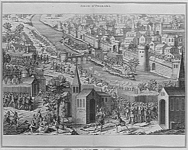 Le siège d'Orléans en 1562, Anonyme, estampe (Château de Versailles)