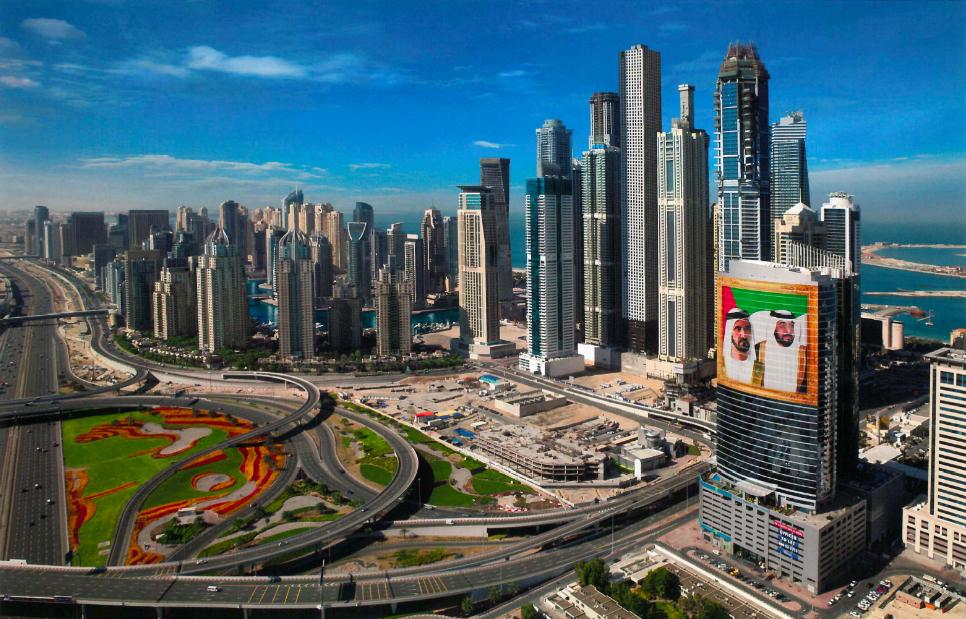 Vue sur Dubaï Internet City et Dubaï Marina (Ziaian, 2012)