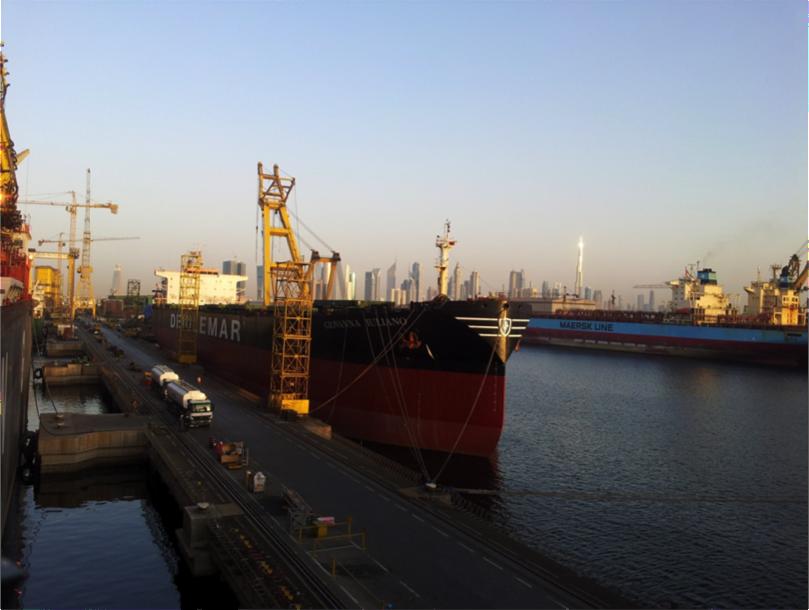 La vue sur Dubaï Downtown des Dry docks de Dubaï (M. Esper, 15 mai 2013)