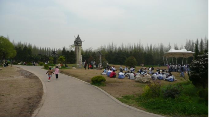 Parc forestier de Dongping sur l'île de Chongming dans la municipalité de Shanghai (E. Véron, 2010).