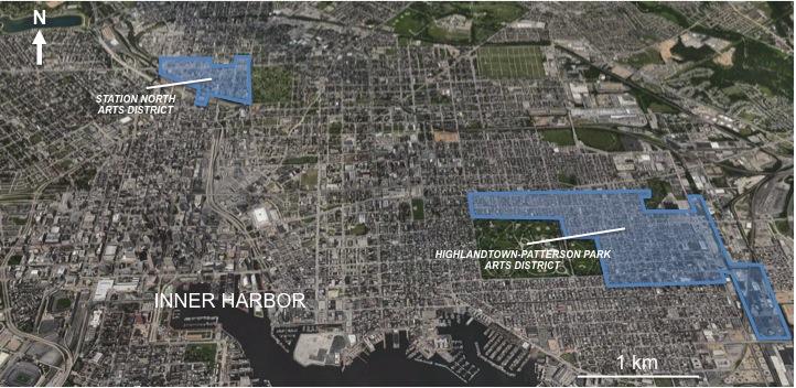 1. Baltimore, éléments de localisation (établi à partir de Googlemaps).
