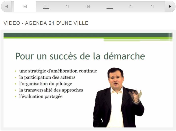 Capture d'écran du MOOC (Francou, 29 janvier 2013)