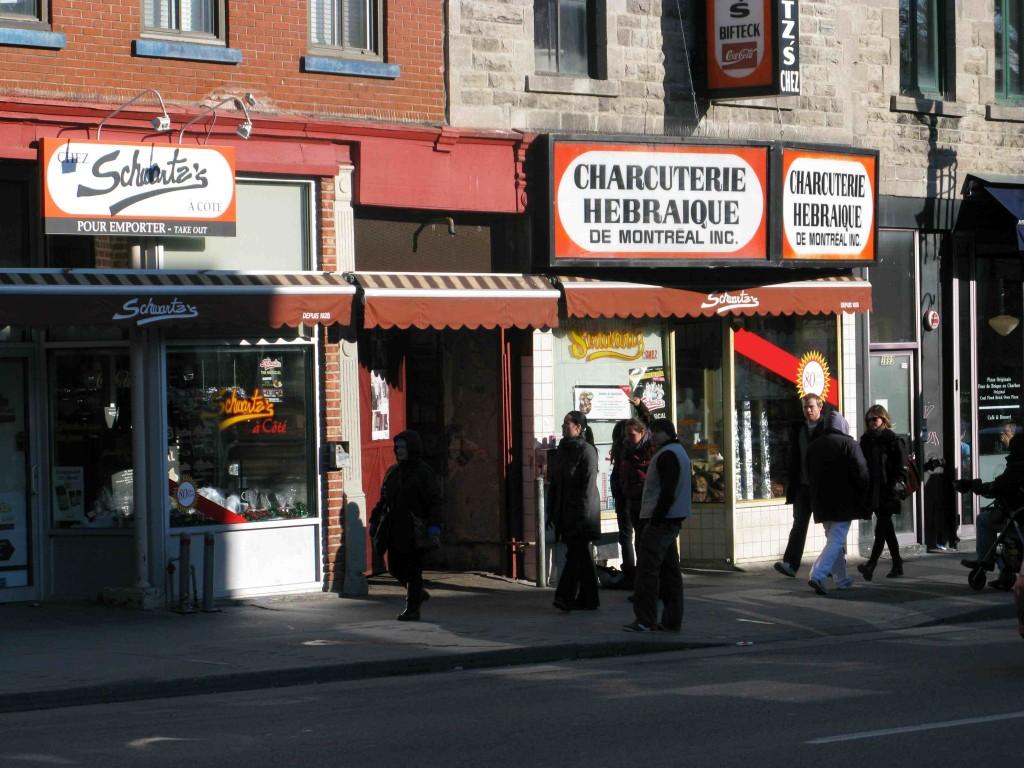 Figure 3 : Le restaurant Chez Shwartz's et son extension sur la gauche de la photographie : Chez Schwartz's à côté (Poulot, 2013)