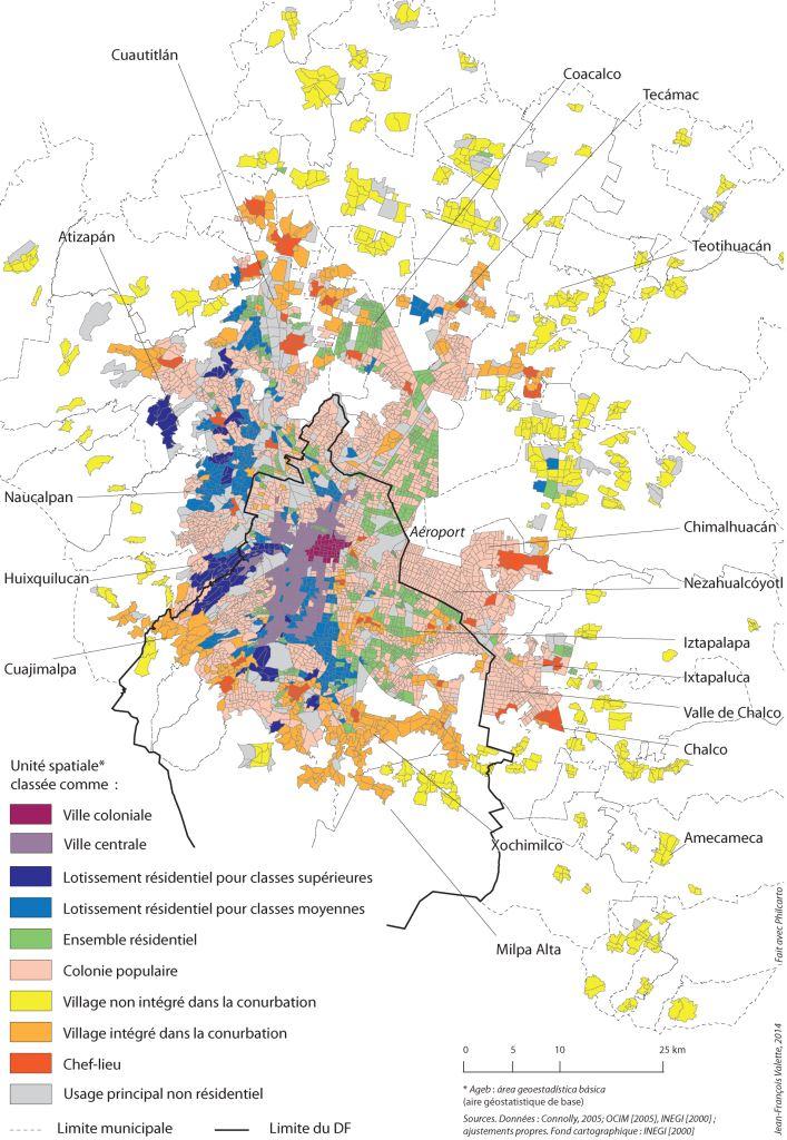 11. Les types de peuplement en 2000 selon l'OCIM (Valette, 2014)