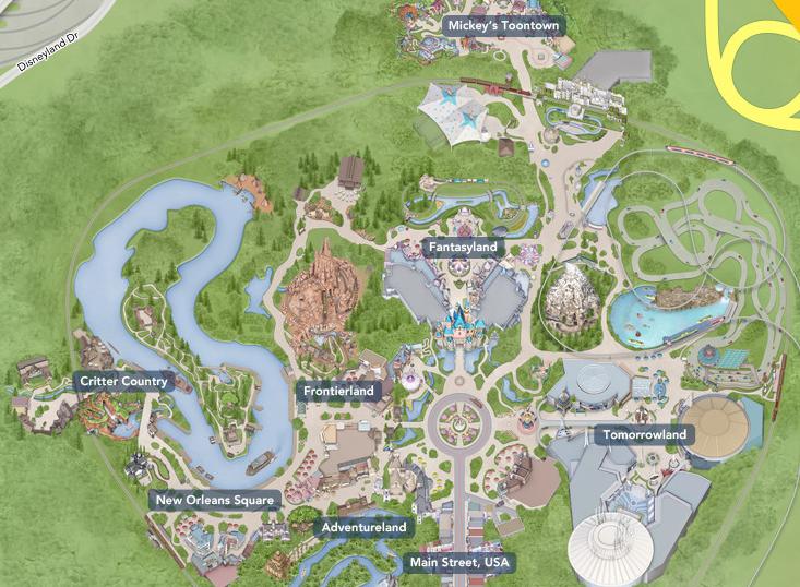 3. L'organisation interne de Disneyland à Anaheim (Disneyland Anaheim, 2014)