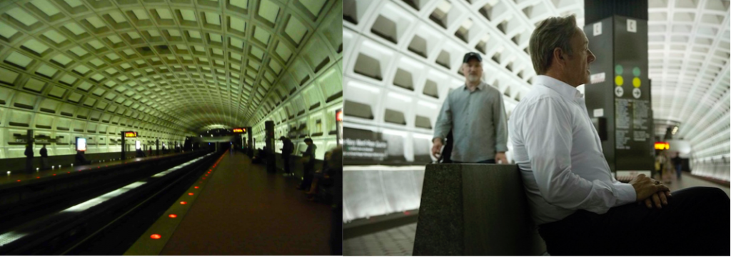 Métro de Washington (Ruggeri, 2011 ; House of Cards, 2013)
