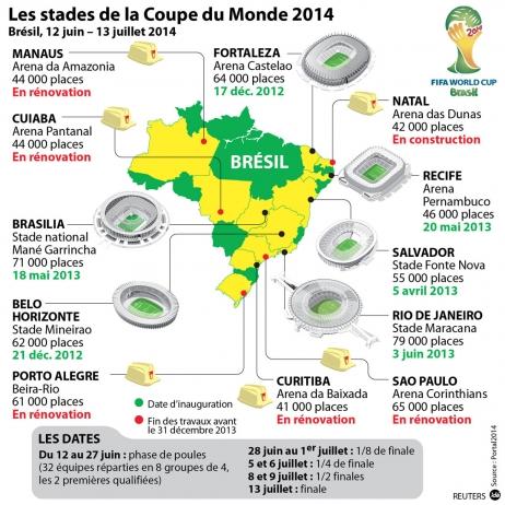 Bresil carte (france info - 2013)