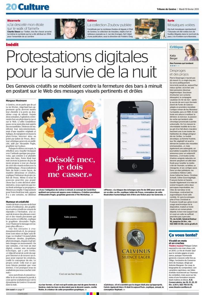 Le digital pour la survie de la nuit (Journal 20 minutes, 19 février 2013)