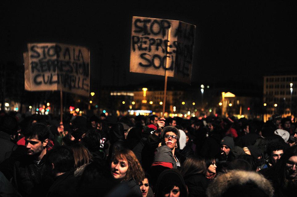 Manifestation (Tribune de Genève, 2 mars 2013)