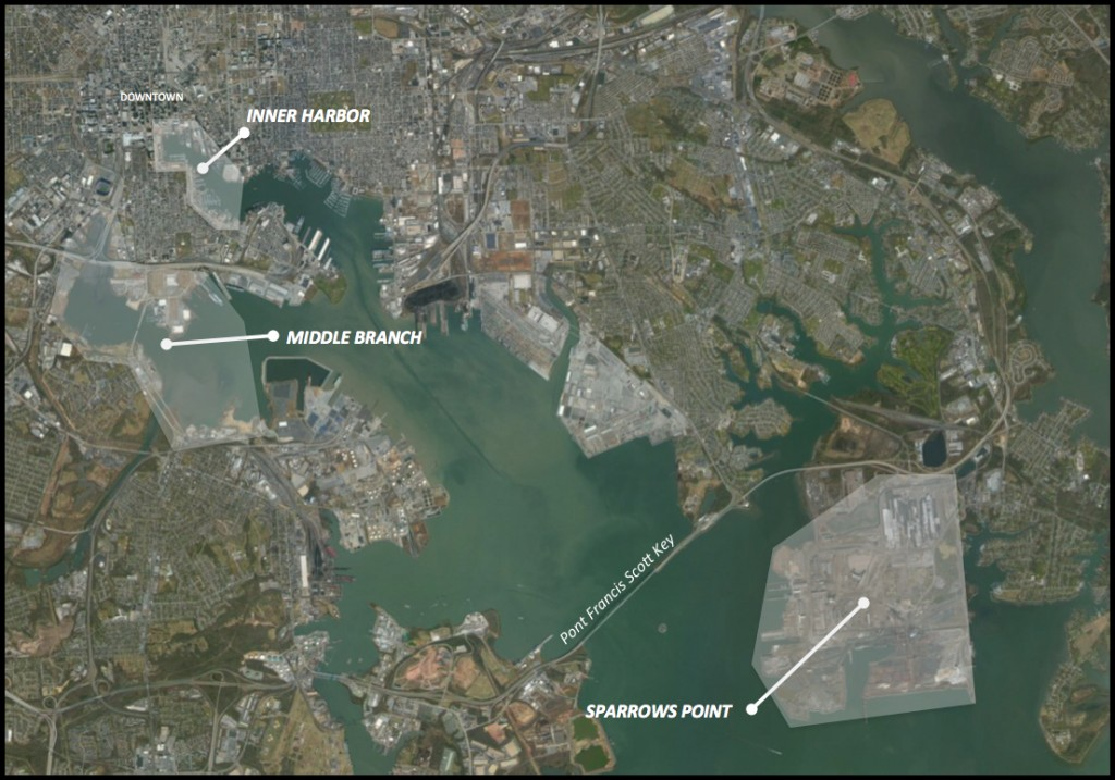 1 Eléments de localisation (établie à partir de GoogleEarth. Baffico, 2014)