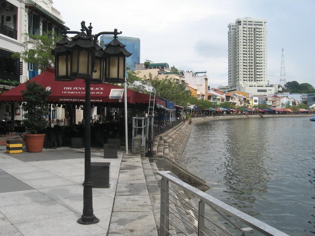 Aménagement des quais de la Singapore River (Boquet 2008)