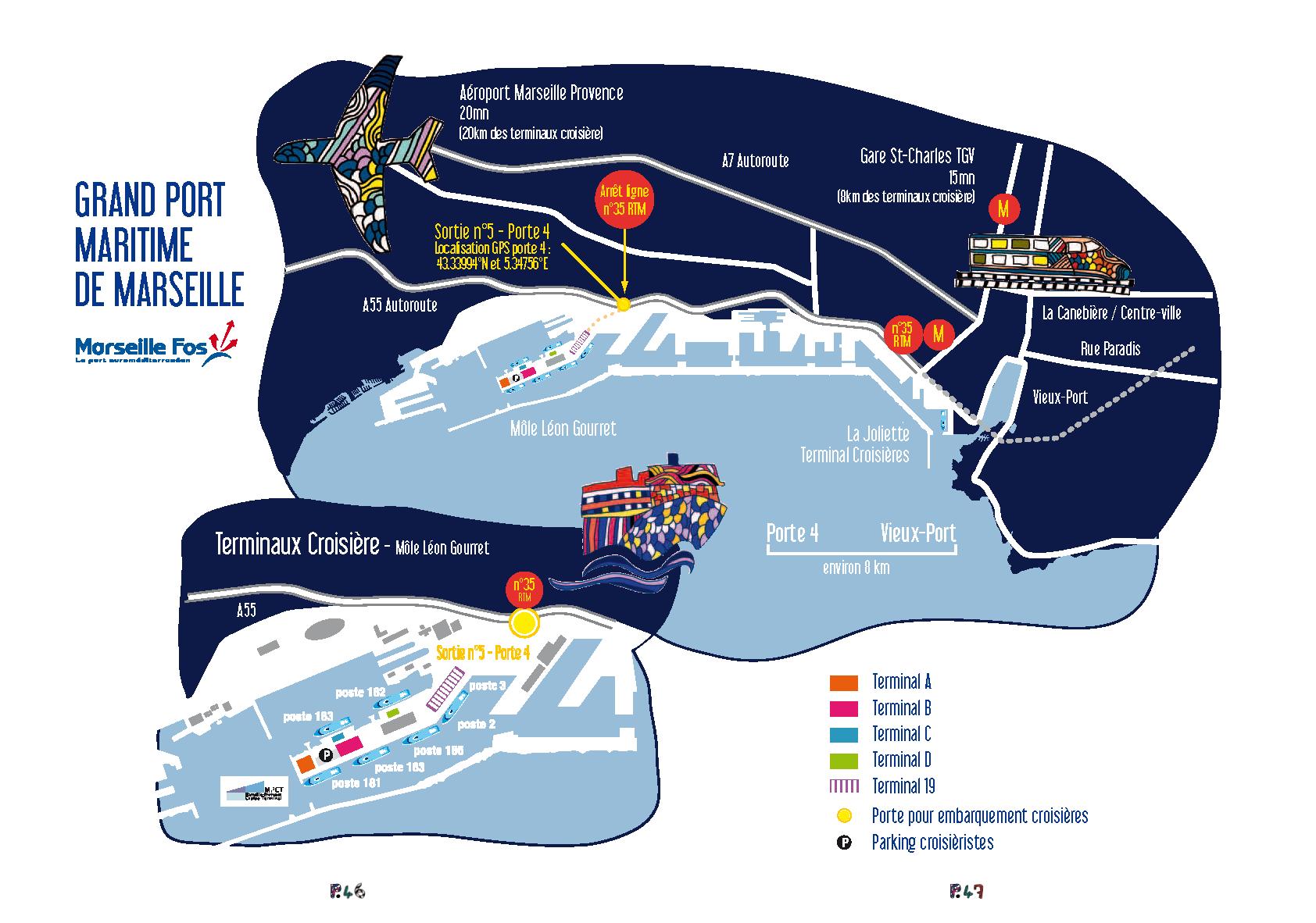 4 l affirmation de marseille comme port de croisi re en - Distance gare st charles vieux port marseille ...