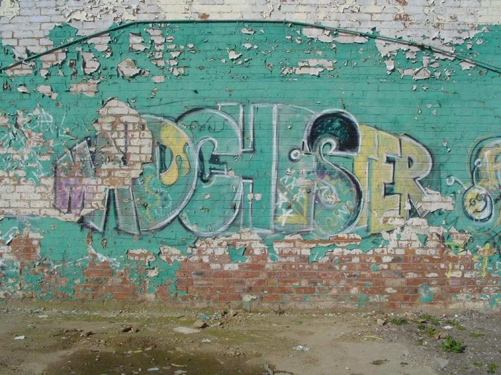 Graffiti « Madchester » inspiré du surnom donné à Manchester (Mike Colvin, 2006)