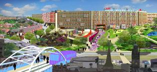 Projet de rénovation de Park Hill par le promoteur Urban Splash (Urban Splash, 2007)