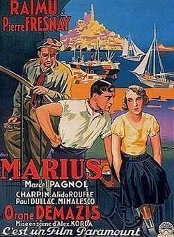 Affiche pour le film Marius, réalisé en 1931 (Lorit, 1932).