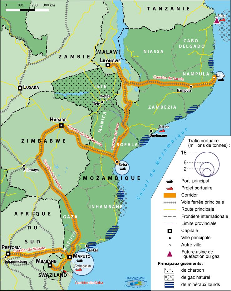4. Le Mozambique, nouvel eldorado africain (conception M-A Lamy-Giner, 2014)