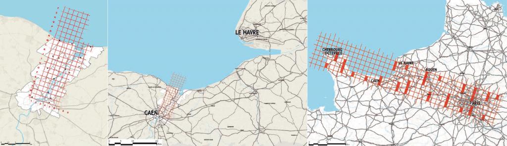 Figure 2 – Une triple échelle géographique (IGN / Aucame / ésam Caen/Cherbourg, 2013)