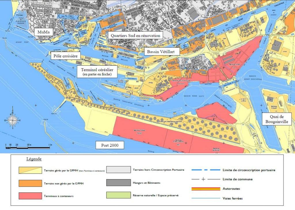 Carte 1: le port du Havre (HAROPA, retravaillée par D. Florentin).