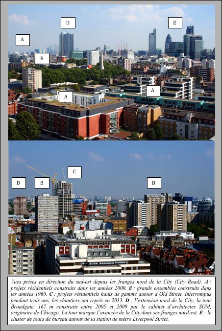 Paysages de la régénération dans les franges de la City (Drozdz, 2013)