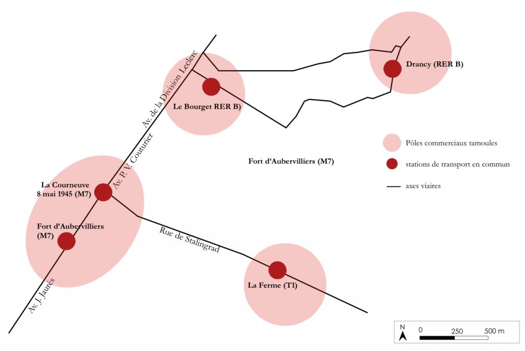 6. Un système communautaire tamoul de proximité relié par des axes structurants (Lo Duca, 2015)