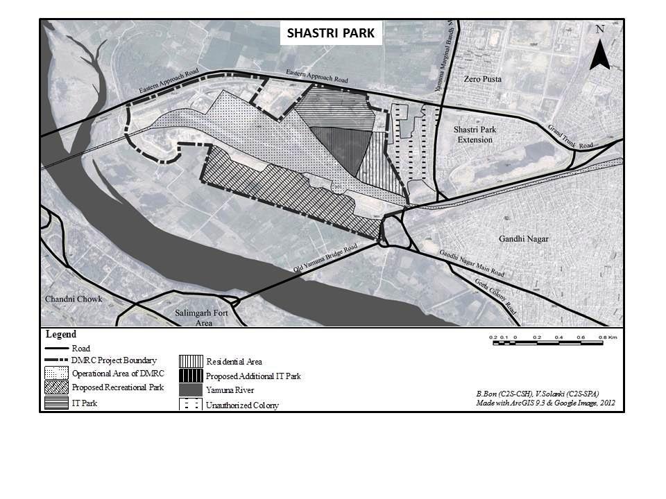 Plan du projet Shastri Park de la DMRC (Bon, 2012)
