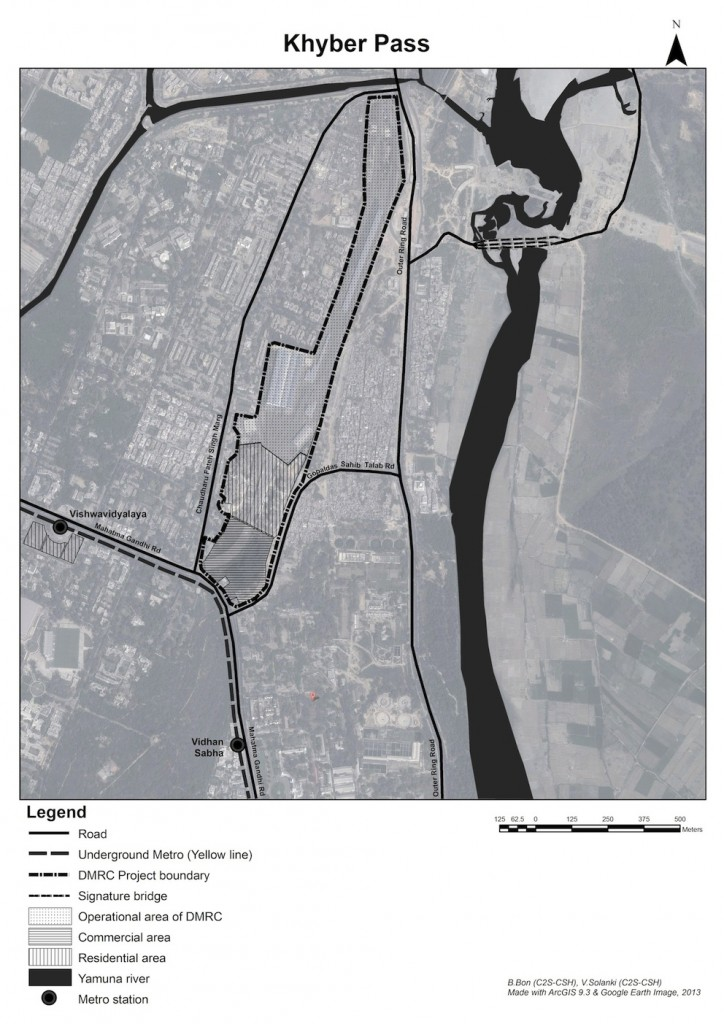 Plan du projet Khyber Pass de la DMRC (Bon, 2013)