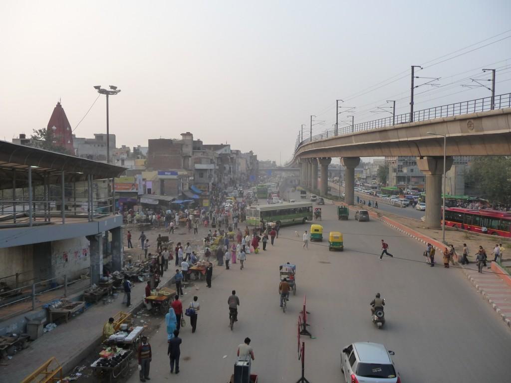 La station Azadpur dans le nord de Delhi (Bon, 2011)