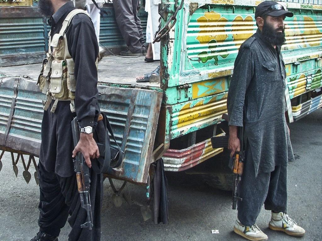 Miliciens de l'organisation extrémiste sunnite Sipah-e-Sahaba Pakistan (SSP) (Gayer, 2011).