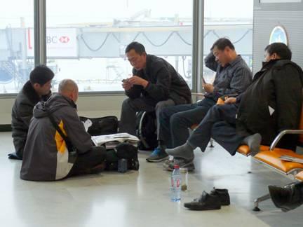 L'espace aéroportuaire investi par les collectifs mobiles, terminal 1C de Roissy. Source: J.-B. Frétigny 2010