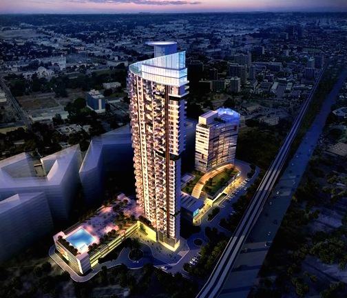 5b. Image de synthèse de la tour « Raheja Phoenix », les appartements luxueux prévus à côté des logements sociaux.