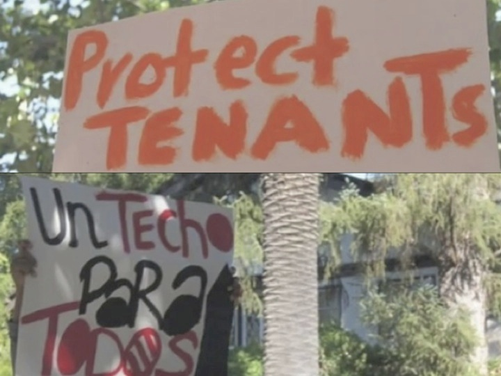 10. Deux photographies prises lors de manifestations de résidents d'East Palo Alto en 2008. Les locataires dénoncent l'augmentation des loyers dans les résidences de Page Mill Properties (epa-tenants.org, 2008).
