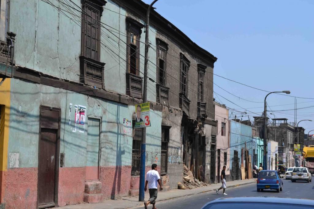 Figure 7. Rue Cajamarca, dans le secteur sauvegardé du district du Rimac (Sierra, 2015)