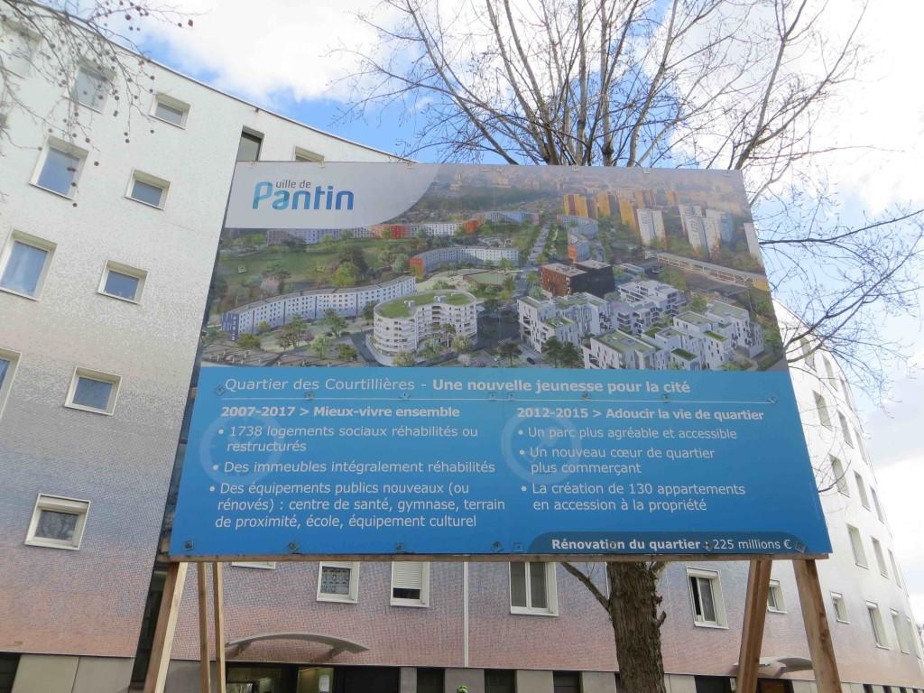 6. Panneau du projet - Place du marché - Les Courtillières (Ghali, 2014)