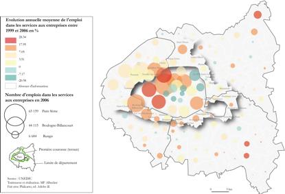 3. L'évolution de l'emploi dans les services aux entreprises entre 1993 et 2006 (Albecker, 2014)