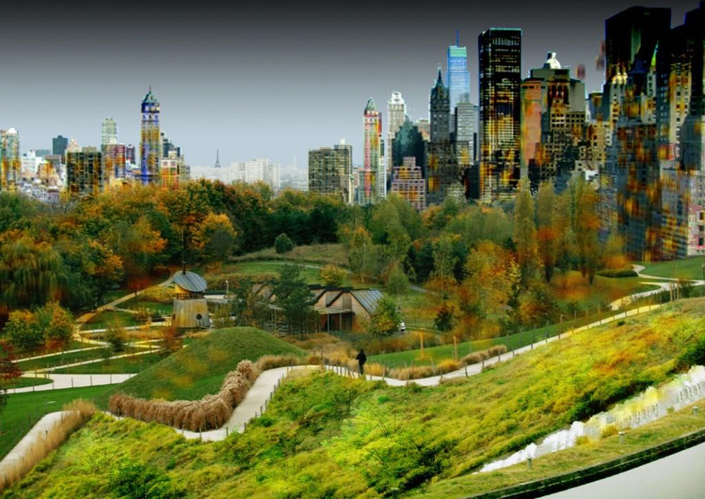 3. Le projet de Central Park de La Courneuve (source : Castro Denissof Associés)