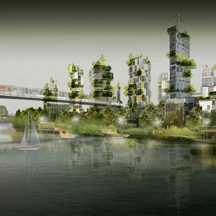 4. Le projet de l'île de Vitry (Source : Castro Denissof Associés)