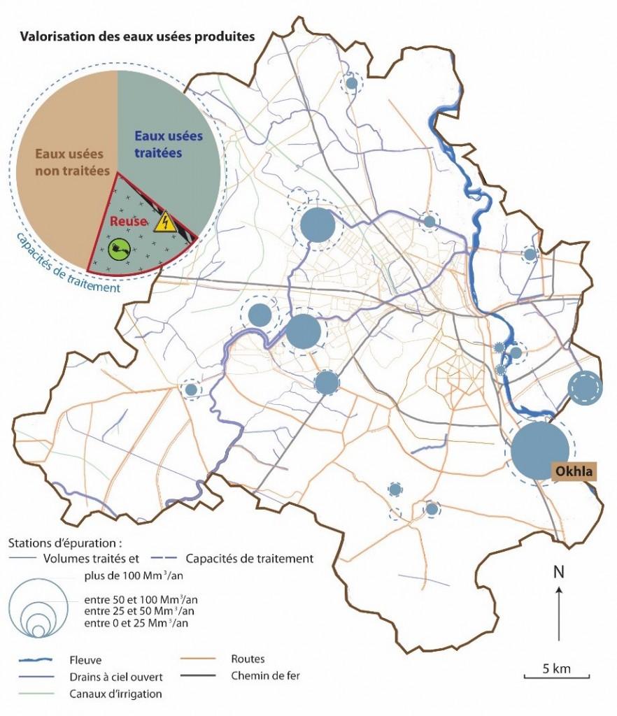 1. Principales infrastructures d'assainissement de Delhi (Bercegol et Gowda, 2015 / Réalisation: Safège ©)