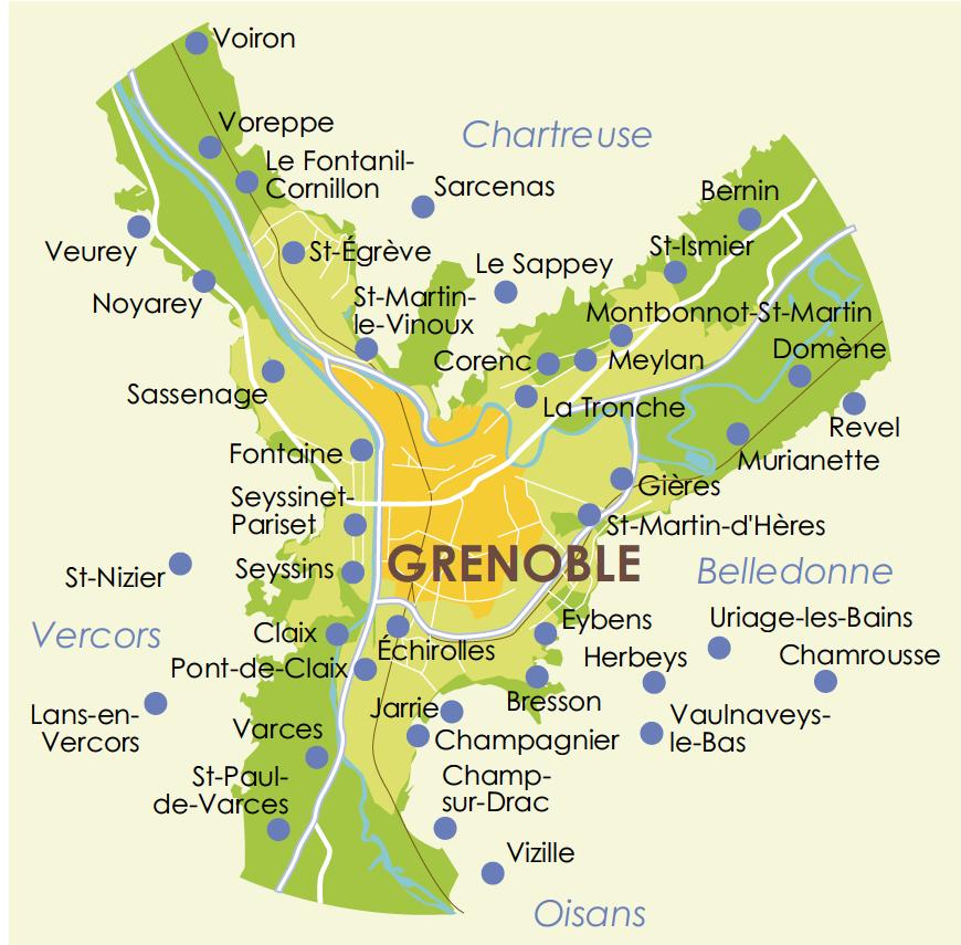 1.Le « Y grenoblois » (http://ut4m.fr/territoires/ville-de-grenoble/, non datée)