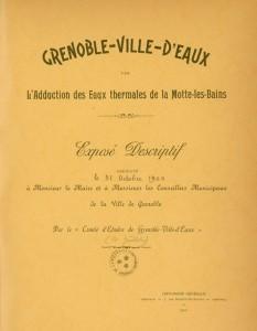 5.Grenoble, ville d'eaux, exposé descriptif du projet (bibliothèque municipale de Grenoble, 1900)