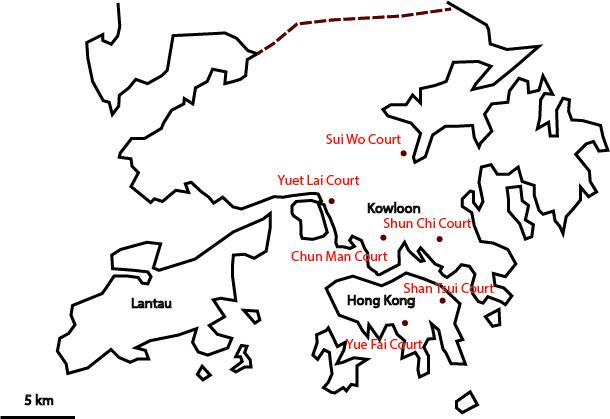 3. Localisation des premiers logements HOS réalisés en 1980 à la périphérie de l'agglomération (Douay, 2015)