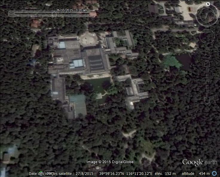 2. Hôtel de la Montagne parfumée, vue aérienne par Google earth, consultée le 27 août 2015.
