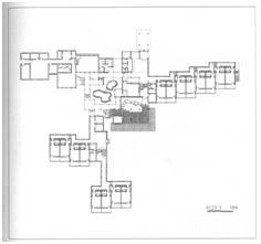 4. Plan du rez-de-chaussée de l'Hôtel de la Montagne Wuyi (Qi Kang)
