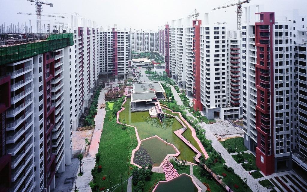 7. Villa Time Rose, espace public et paysage, Liu Jiakun, Guangzhou, 2001(Jiakun Architects)