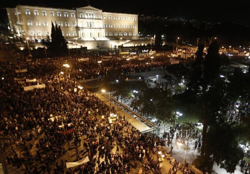 La place Syntagma un jour de manifestation en 2012 (J. Kolesidis/Reuters)