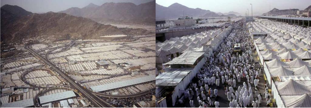 2. Tentes de pèlerins à Mina (La Mecque) en 1991, Arabie Saoudite (Catalogue de l'exposition, 2016)