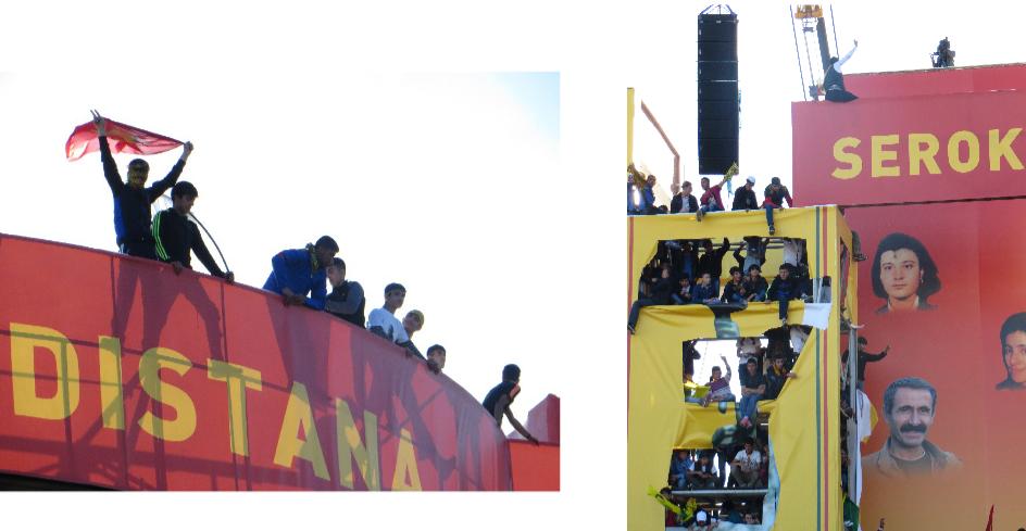7. Enfants et adolescents en marge de la scène du Newroz de 2014 (Gosse, 2014).